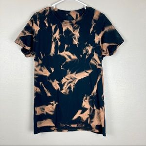 Black cotton t shirt fruit of the loom bleach dyed